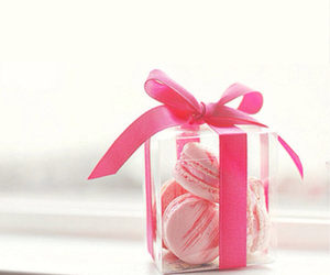 pink, macaroons, and iphone image