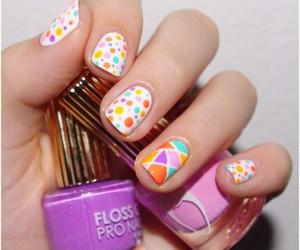 color, nail, and summer image