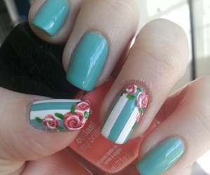 art, coral, and manicure image