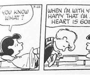 charlie brown, heart, and love image