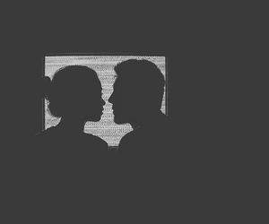 black and white, couple, and indie image