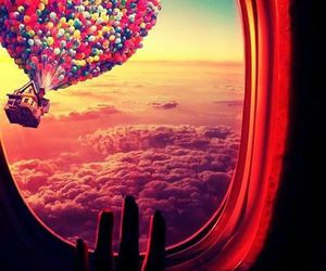 avion, baloons, and fly image