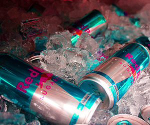 ice, drink, and redbull image