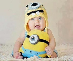baby, minions, and boy image