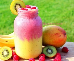 fruit, fitness, and drink image