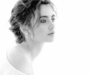 black and white and lily collins image