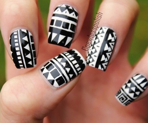 nails, tribal, and black image