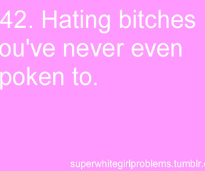 bitches, super white girl problems, and hating image