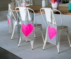 bag, chairs, and heart image