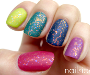nails, colorful, and cute image