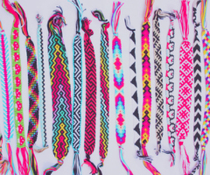 bracelet, pink, and colorful image