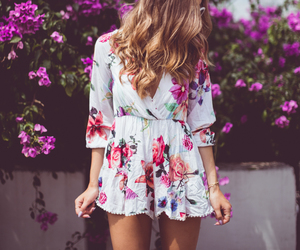 fashion, flowers, and summer image