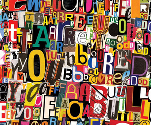 background, colourful, and letters image