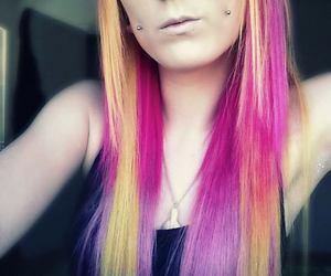 hair, pink hair, and skyla wilde image