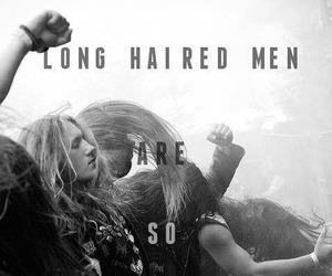 long hair, metalhead, and metal image