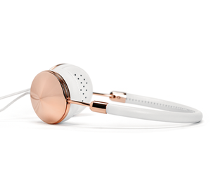 white, earphones, and gold image