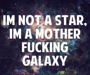 star, galaxy, and quote image