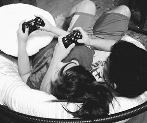 love, couple, and game image