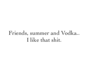summer, vodka, and friends image