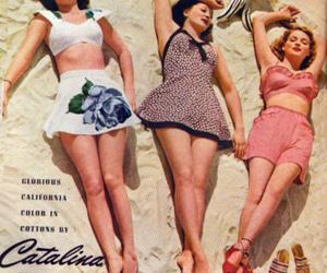 ad, beach, and pin-ups image