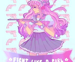 fight and kawaii image