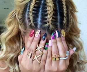 nails, hair, and braid image