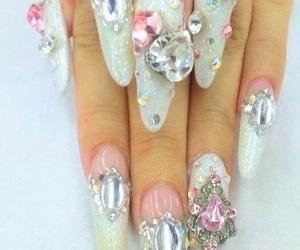 nails, kawaii, and pink image