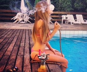 girl, hair, and hookah image