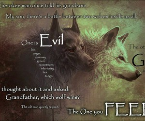wolf and quote image