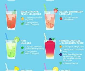 lemonade, drink, and summer image