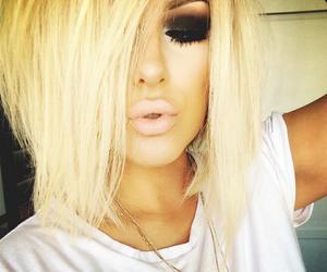 makeup, blonde, and hair image