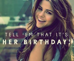selena gomez, 22, and birthday image