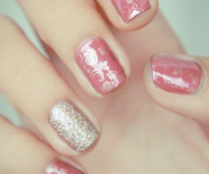 girly, pink, and nail polish image