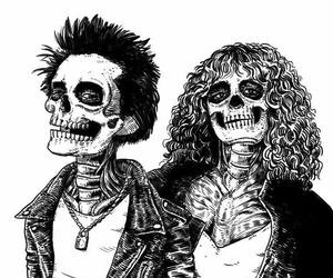 skull, art, and punk image