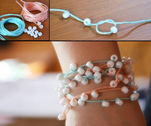 bracelet, diy, and necklace image