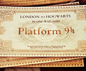 harry potter, ticket, and train image