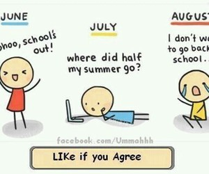 school, summer, and july image