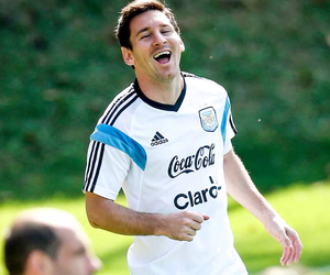 messi, argentina, and smile image