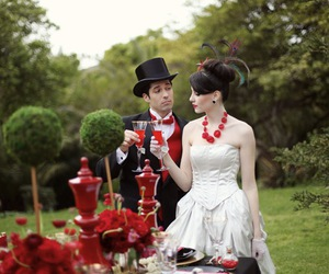 alice, red, and wedding image