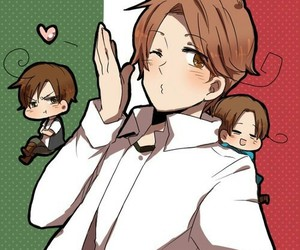 hetalia, north italy, and south italy image