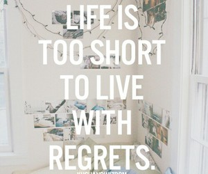 quote, life, and regrets image
