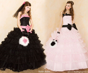 barbie, wedding dress, and cute image