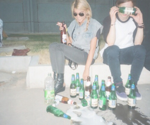 girl, alcohol, and party image