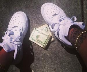 money, nike, and black image