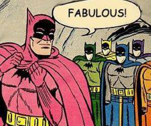batman, fabulous, and pink image