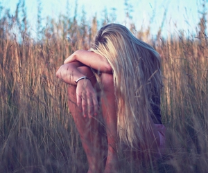 alone, blonde, and nature image