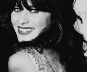 black and white, smile, and zooey deschanel image