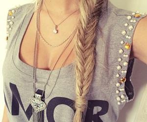 hair, fashion, and shirt image