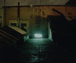 moon, light, and neon image