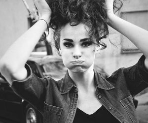cigarette, girl, and hair image